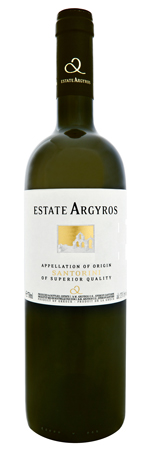 Argyros Estate Assyrtiko label