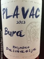 Bura Fresh Plavac Mali: label