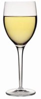 Overfilled wine glass