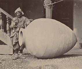 Georgian winemaker with qvevri (1881)