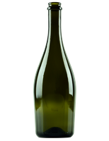 A typical sparkling-wine bottle.