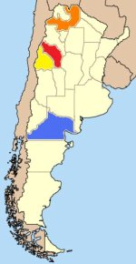 Map showing Torrontes-growing regions of Argentina