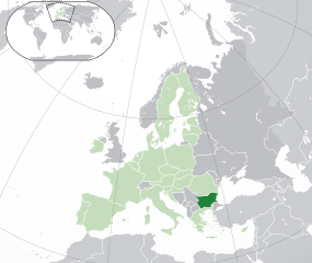Map showing Bulgaria