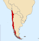 Map showing Chile