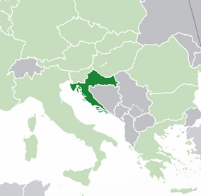 Map showing Croatia