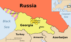 Map showing Georgia
