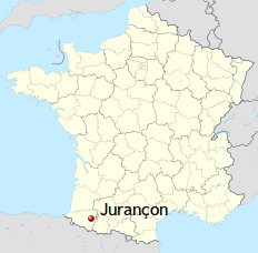 Map showing the Jurancon area