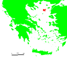 Map showing Lemnos