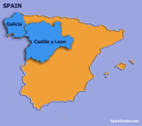 Map showing the regions where Mencía is today grown
