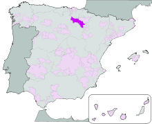 Map showing Rioja