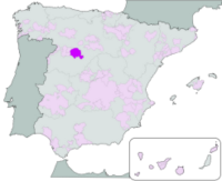 Map showing the Rueda region of Spain
