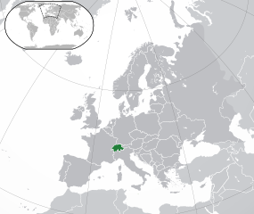 Map showing Switzerland